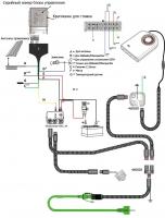 Схема подключения раздельного управления подогревателем и отопителем
