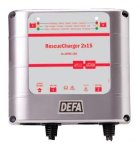 RescueCharger 2x15 (defa разъем) зарядное устройство для экстренных служб