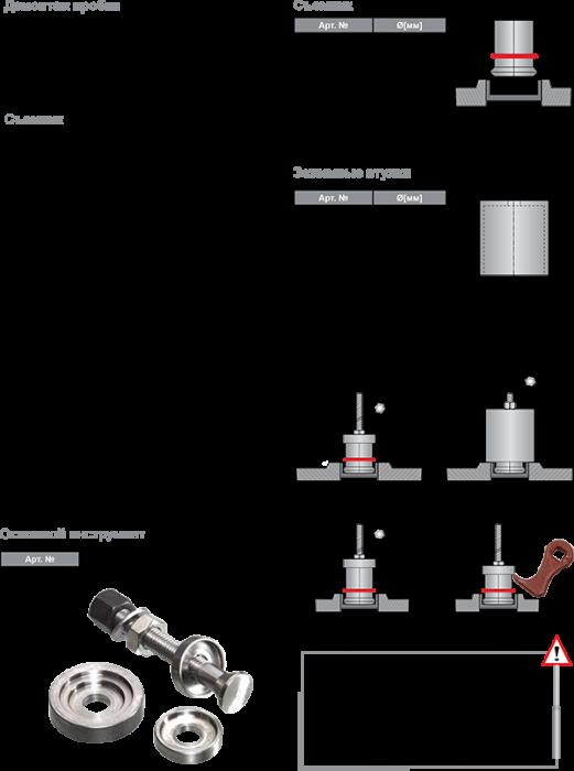 Правило монтажа подогревателей DEFA серии: 000, 100, 300 и 500