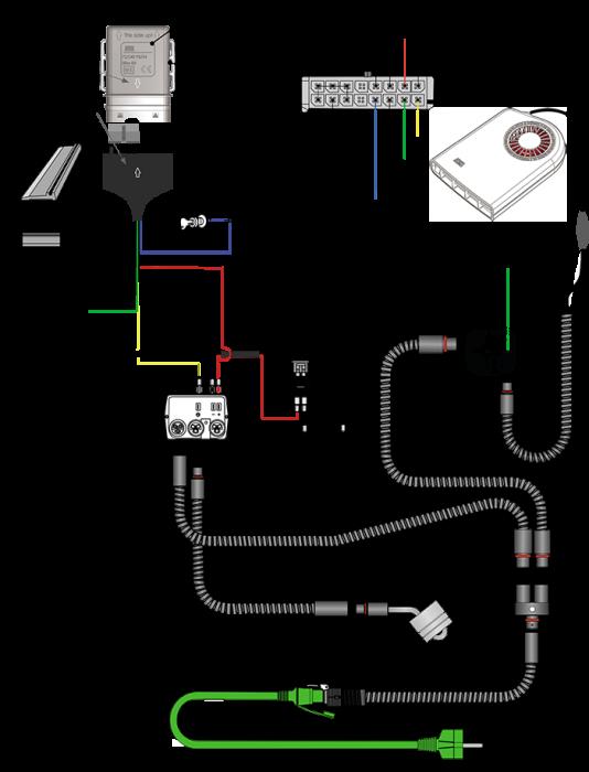 схема подключения раздельного управления подогревателем и отопителем DEFA