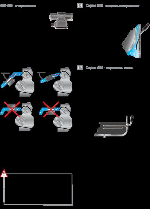 Правило монтажа подогревателей с термостатом